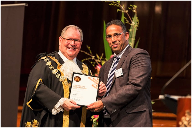 Our Director & Senior Migration Agent, Brian Pereira received the Lord Mayor's Bronze Commendation Award in 2015 in the Melbourne Town Hall.